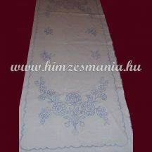 Pre-stamped table runner - hand embroidery - folk motif -  rectangular - 37x87 cm