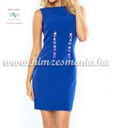Elegant clothes - folk embroidery - Kalocsa motif - blue