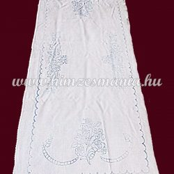 Pre-stamped table runner - hand embroidery - folk motif - rectangular - 36x85 cm
