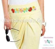 Elegant skirt - hungarian folk Kalocsa machine embroidery - lemon - Embroidery Mania