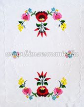 Table runner - hungarian hand embroidery - Kalocsa pepper motif - 54cm40 cm