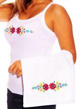 Hand towels - hungarian folk embroidery - Matyo style - white