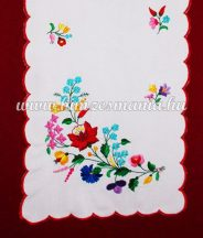 Kalocsa runner -  hand embroidered - hand red borders