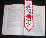 Bookmark - hand embroidery - hungarian folk - Kalocsa motif