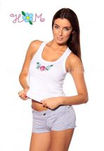 Tanktop - hungarian folk embroidery - white