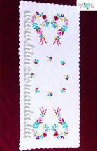 Tablecloth - hungarian folk - hand embroidery - Kalocsa style - 84x36 cm