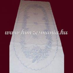 Előnyomott drukkolt kalocsai mintás futó - ovális - 37x87 cm