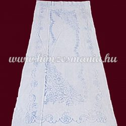 Pre-stamped table runner - hand embroidery - Kalocsa pattern - rectangular - 36x84 cm