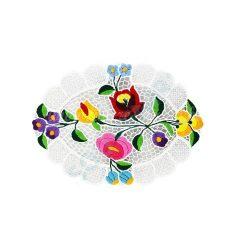 Tablecloth - hungarian folk - hand embroidery - Kalocsa style - 25 x 30 cm