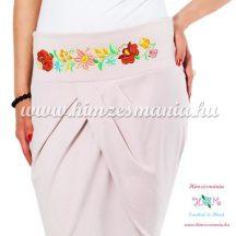 Elegant skirt - hungarian folk Kalocsa machine embroidery - mouve - Embroidery Mania