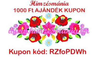 Hímzésmánia 1000 forint ajándék