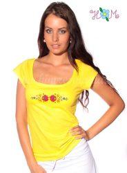 Hímzésmánia - matyó póló - sárga (S, M)