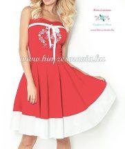 Kalocsai menyecske ruha - gépi hímzés - piros