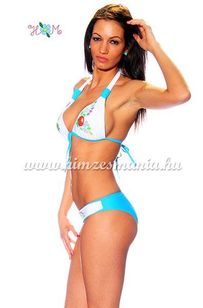 9ac61aa186 Kalocsai mintás bikini - push up - kék - Hímzésmánia | Divat Webáruház