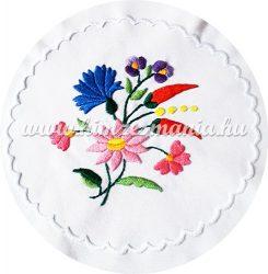 Small tablecloth - hungarian folk - hand embroidery - Kalocsa pattern - 15x15 cm