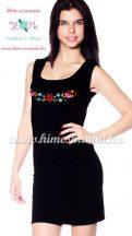 57a2df53cb Kalocsai mintás hímzett nyári ruha - fekete - Hímzésmánia (S/M)