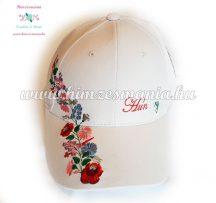 Baseball cap - Hungary embroidery - Kalocsa style - natur