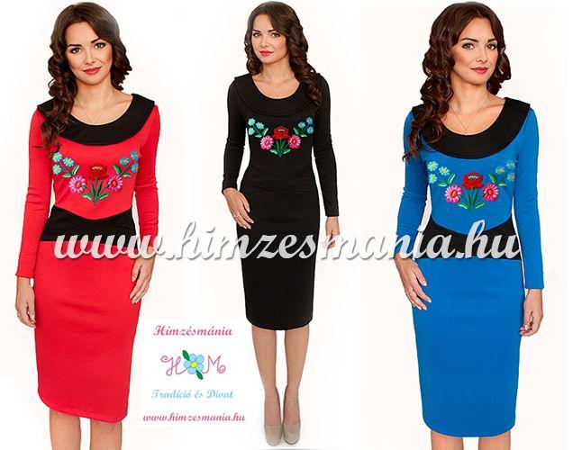 521e4bdd35 Kalocsai mintás ruha - kézi hímzés - fekete (36,38,40) - Hímzésmánia ...