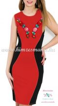 Sleeveless women dresses - hungarian folk hand embroidery - red
