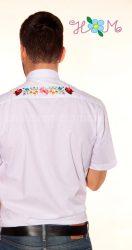 Hímzésmánia - hátulján hímzett kalocsai férfi ing - fehér - (XL)