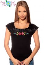 Embroidery Mania - T-shirt Matyo folk machine-embroidered - black