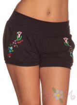 Hippsy kalocsai mintás rövid nadrág - fekete