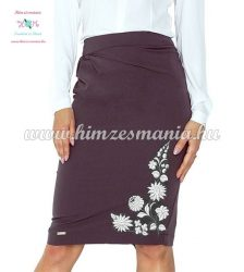 Skirt - hungarian white folk embroidery - Kalocsa style