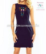 Elegant clothes - hungarian folk embroidery - Kalocsa style - blue