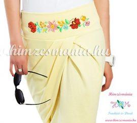 Elegant skirt - hungarian folk Kalocsa machine embroidery - lemon - Embroidery Mania