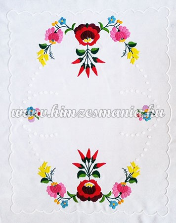 f8a32d70c7 Table runner - hungarian hand embroidery - Kalocsa pepper motif - 54cm40 cm