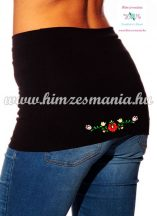 Waist Warmer - hungarian folk embroidery - matyo style - black