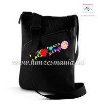 Tablet/document shoulder bag - hungarian folk  hand embroidered - Kalocsa style - back