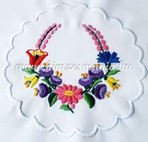 Small tablecloth - hungarian folk - hand embroidery - Kalocsa style - 16x65 cm