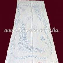 Pre-stamped table runner - hand embroidery - Kalocsa motif - rectangular - 38x74 cm
