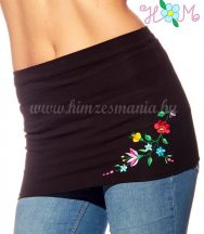 Waist Warmer - Kalocsa folk embroidery - black