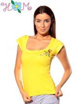Hímzésmánia póló kalocsai mintával - sárga (S)