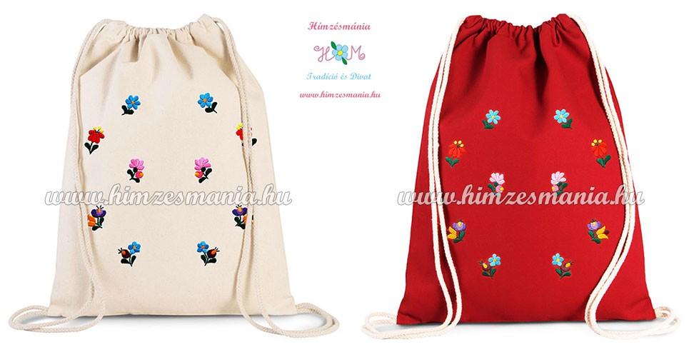 3be08d07d9 Matyó mintás hátizsák - kézi hímzés - natúr - Hímzésmánia | Divat ...