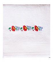 Towels - hungarian folk pattern - Kalocsa style - white