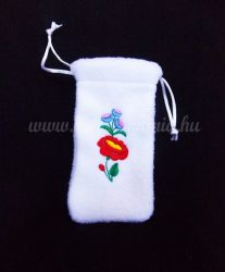 Phone case - hungarian folk embroidery - white