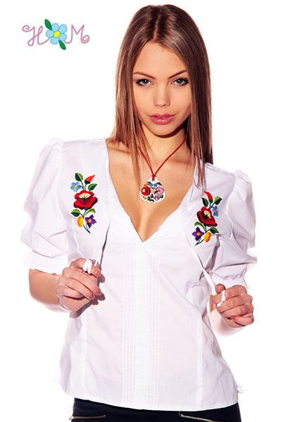 27676ad108 Blouse - hungarian handmade - embroidery Kalocsa style - white ...