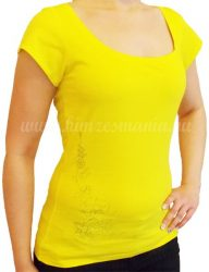 Hímzésmánia - hímezhető póló kalocsai mintával - sárga