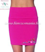 Skirt - hungarian folk - machnine embroidery - Kalocsai motif - pink