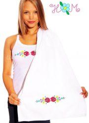 Towels - hungarian folk embroidery - Matyo style - white