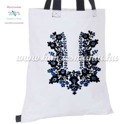 Cotton shopping bag - hungarian folk embroidery - handmaded - Matyo style - white