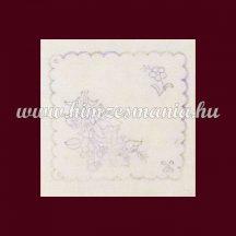 Hímezhető drukkolt kalocsai alátét - négyszögletes - 16x16 cm