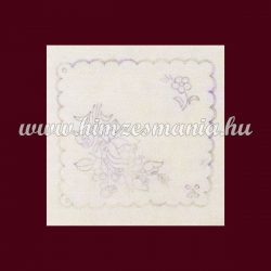 Pre-stamped placemat - hand embroidery - Kalocsa pattern - rectangular - 16x16 cm