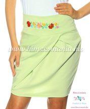 Elegant skirt - hungarian folk Kalocsa machine embroidery - pistachios - Embroidery Mania
