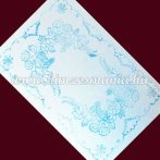 Pre-stamped small tablecloth  - hungarian hand embroidery - Kalocsa pattern - rectangular - 40x26 cm