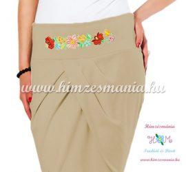 Elegant skirt - hungarian folk Kalocsa machine embroidery - hazel - Embroidery Mania