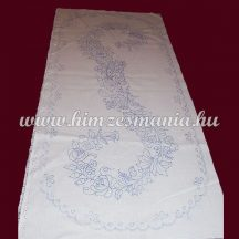 Pre-stamped table runner - hand embroidery - Kalocsa motif -  oval - 37x87 cm